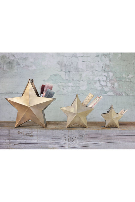 Glass and Metal Star Candle Base