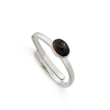 Striped Black Onyx Micro Adjustable Ring