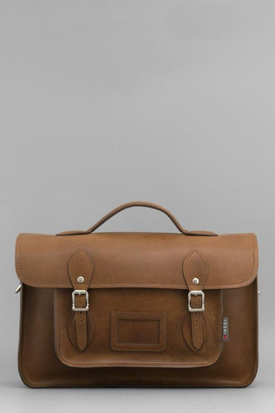 "Dewhurst 10.5"" Leather Satchel"
