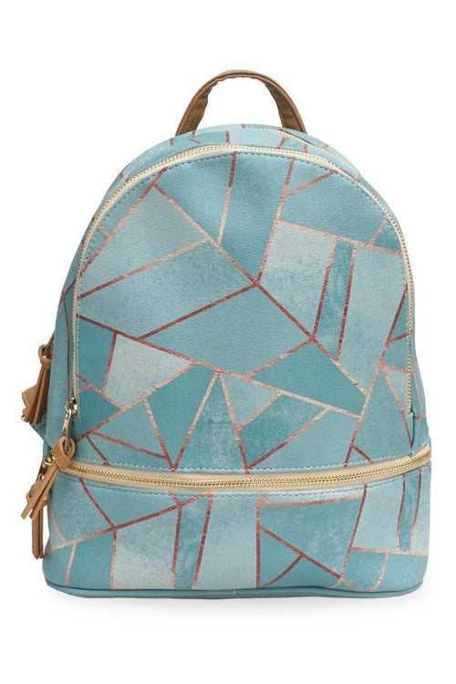 'Duck Egg & Copper' Small Backpack