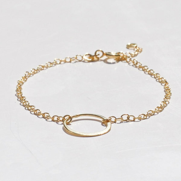 Gold Hoop Bracelet - One and Eight