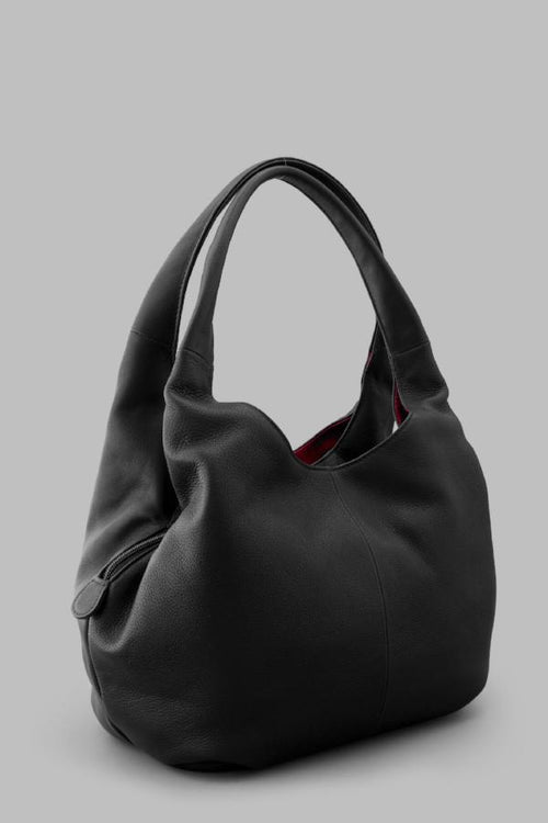 Meehan Leather Slouch Shoulder Bag