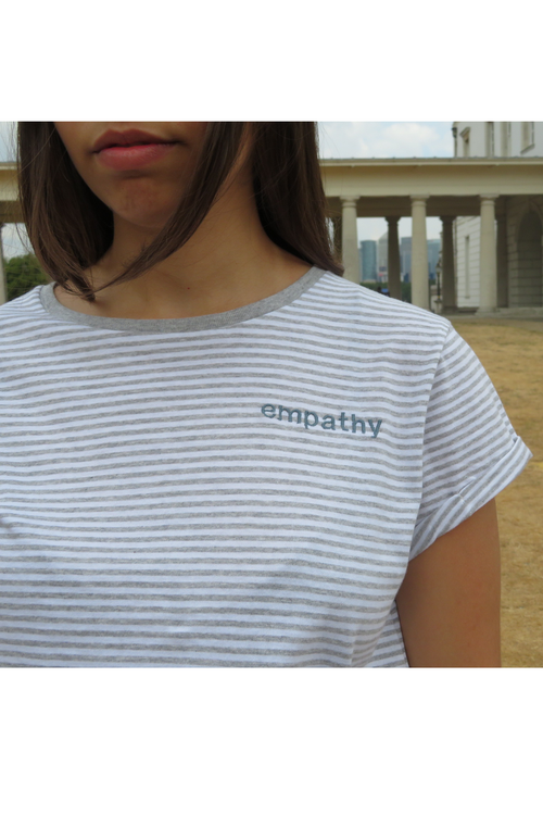 Embroidered 'Empathy' Organic Cotton T Shirt