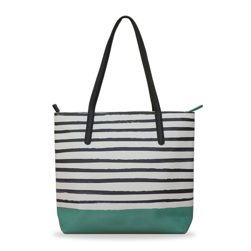 'Green X Stripes' Vegan Tote Handbag