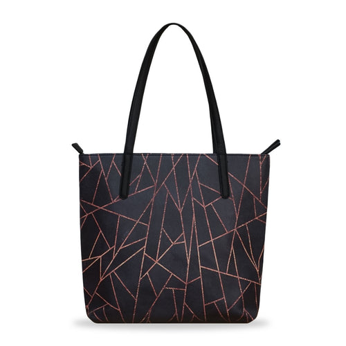 'Shattered Black' Vegan Tote Handbag