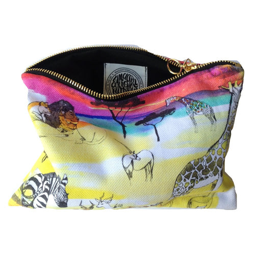 Africa Zip Up Bag