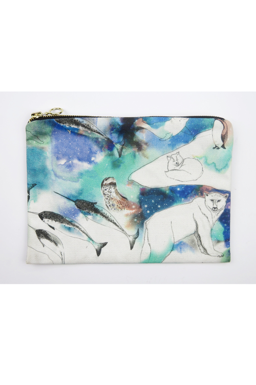 Northern Lights Zip Up Bag