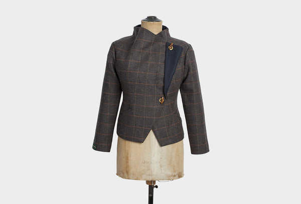 Peacock Brown Tweed Jacket