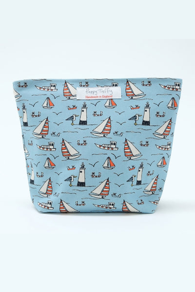 Seaside Print Big Make Up Bag
