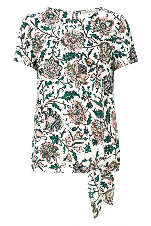 Zia Tropical Print Tie Top