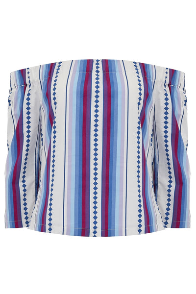 Yvonne Diamond Stripe Of Shoulder Top
