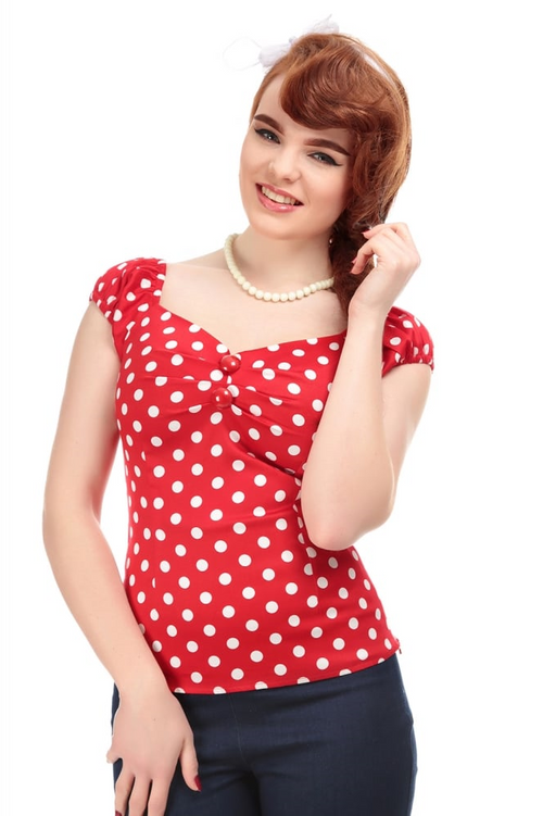 Collectif Mainline Dolores Top Polka