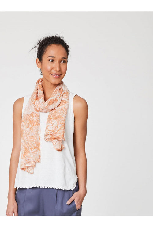 Wendy Essential Floral Two Colour Scarf