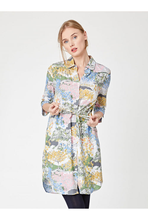 Meadow Tencel Printed Shirt Dress