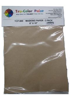 "Tru-Color TCP-900 Masking Paper, 8"" x 10"", 3 sheets"