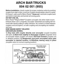 Micro-Trains Line 004 02 001 (955) Z and Nn3, Arch Bar Trucks, Magne-Matic Coupler, Assembled