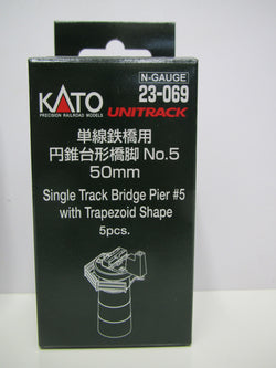Kato N 23069 Piers, 50mm, 2 inch, 5 Pieces, Unitrack