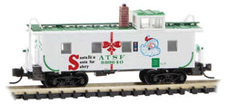 Micro Trains 100 00 490 N, 36' Riveted Steel Caboose, Offset Cupola, ATSF, 999640