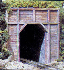 Woodland Scenics C1254 HO Single Tunnel Portal, Timber
