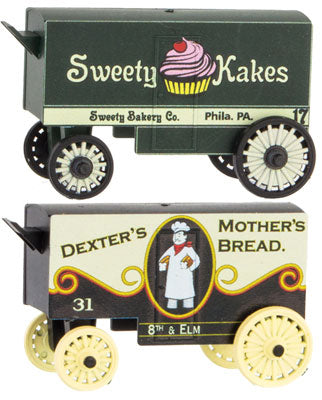 Micro-Trains Line 470 00 229 N Vintage Wagons, Dexter's Mother's Bread and Sweety Kakes