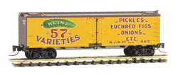 Micro Trains 518 00 670 Z, 40' Wood Reefer, Heinz Yellow Series Car 5, HJHCo, 485