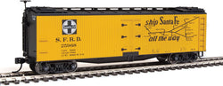Walthers Mainline 910-41219 HO 40' Early Wood Reefer Car, SFRD, 25968