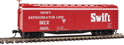 Walthers Mainline 910-41223 HO 40' Early Wood Reefer Car, Swift Refigerator Line, SRLX, 6166