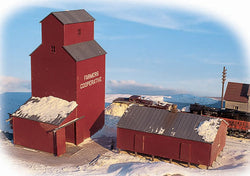Walthers 933-3238 N Farmers Cooperative Rural Elevator (Three Colors/Clear)