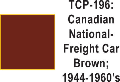 Tru Color TCP-196 Canadian National 1945-60's Freight Car Brown Paint 1 ounce