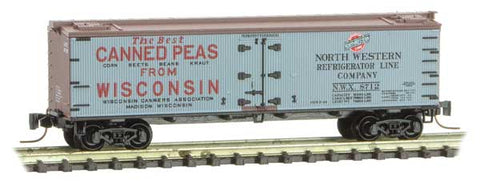 Micro-Trains 518 00 750 Z 40' Double Sheathed Wood Reefer, Farm To Table Series, Car 5, NWX, 8712