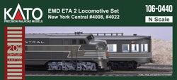 Kato 106-0440 N, EMD F7A 2 Locomotive Set, New York Central, 20th Century Limited