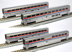Kato 106-3517 N, Amtrak Superliner, Phase III, 4 Car Set A, Amtrak, AMTK