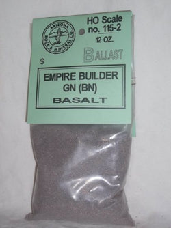 Arizona Rock and Mineral Co. 115-2 HO, Ballast, 12oz Bag, Empire Builder GN, Basalt