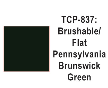 Tru-Color TCP-837 Flat Pennsylvania Brunswick Green Paint 1 Fluid Ounce
