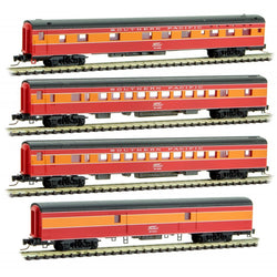 Micro Trains 994 01 190 Z Lightweight Smoothside Passenger Car, 4-Pack Southern Pacific