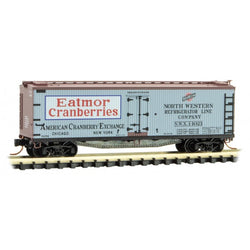 Micro-Trains 049 00 820 N 40' Reefer, Farm To Table Series, Car 3, Cranberry, NWX, 14021