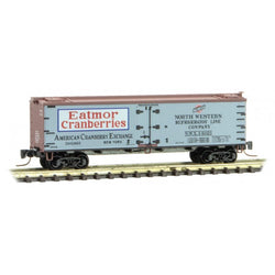 Micro-Trains 518 00 730 Z 40' Reefer, Farm To Table Series, Car 3, Cranberry NWX, 14021
