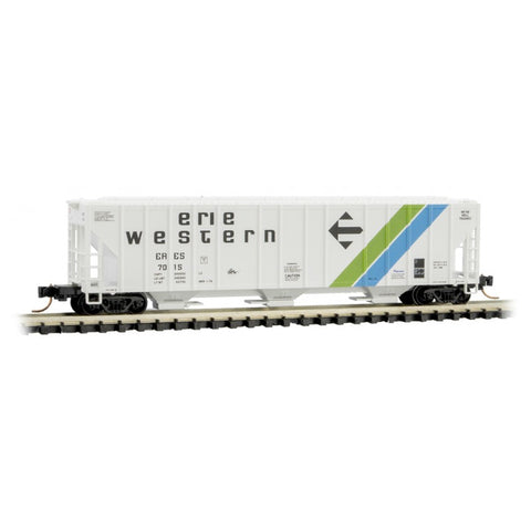 Micro Trains 099 00 210 N 3-Bay Covered Hopper, Erie Western, ERES, 7015