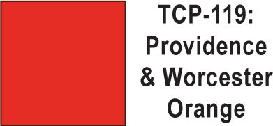 Tru Color TCP-119 Providence and Worcester Orange Paint 1 ounce