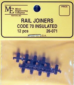 Micro Engineering 26-071 N, Code 70, Plastic Insulated Rail Joiners
