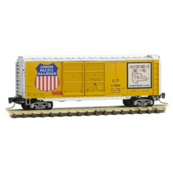 Micro Trains 501 00 301 Z Scale, 40' Standard Box Car, Double Doors, Union Pacific, UP, 519086