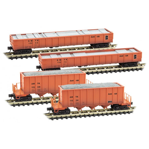 Micro-Trains Line 993 02 010 N Maintenance of Way, Weathered 4 Car Set,  Amtrak