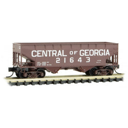 Micro-Trains Line 055 00 570 N 33' Twin Bay Hopper, Offset Sides, Central of Georgia, CG, 21643