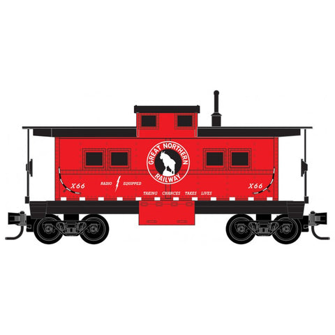 Micro Trains 535 00 450 Z Scale, Center Cupola Caboose, Great Northern, GN, X66