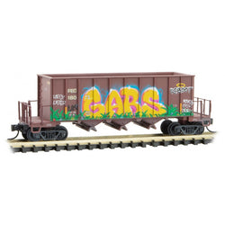 Micro-Trains Line 125 44 140 N, 3-Bay Ortner Rapid Discharge Hopper, Graffiti, SCL, 18073