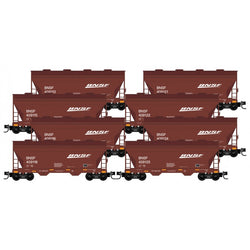 Micro-Trains Line 993 00 819 N Scale, 2 Bay Covered Hopper, 8 Pack, BNSF