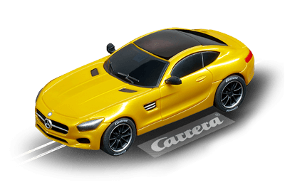 Carrera 64119 Go!!!, 1:43 Electric Slot Car, Mercedes AMG GT Coupe, Solorbeam