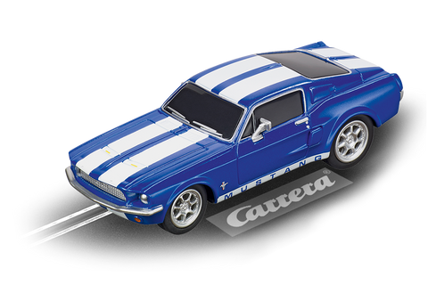 Carrera 64146 Go!!!, 1:43 Electric Slot Car, 1967 Ford Mustang, Blue