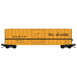 Micro-Trains 511 00 291 Z 50' Rib Side Box Car, Plug Door, Without Roofwalk, DRGW, 48260