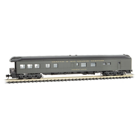 Micro Trains 144 00 810 N Heavyweight Modernized Business Car, Balloon Roof, DRGW, Ogden Canon